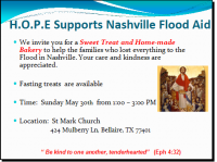 HOPE Nashville Relief Flyer